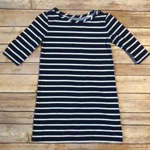 Blue and white striped dress EUC!